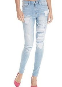 G by Guess Skinny Destroyed Jeans